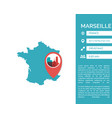 marseille map infographic vector image vector image