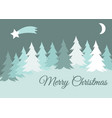 merry christmas winter landscape with snow vector image vector image