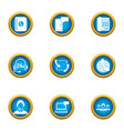 new team icons set flat style vector image vector image