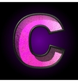 pink plastic figure c vector image vector image