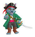 pirate wolf vector image