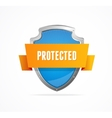 Protect shield on white background vector image vector image