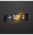 Realistic Black Friday Sale Ribbon Banner Template vector image vector image