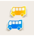realistic design element bus vector image vector image