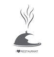 Restaurant Food platter with cover vector image