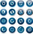 Round dark blue arrow icons vector image vector image