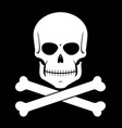 scull and bones vector image vector image