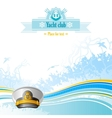Sea travel background design for yacht club with vector image vector image