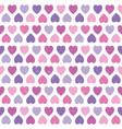 seamless hipster hearts pattern purple pink vector image vector image