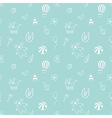 seamless pattern with elements of children toys vector image