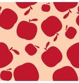 Seamless pink pattern background with apples vector image vector image