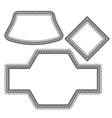 Set of Different Vintage Frames vector image vector image