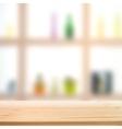Showcase bottle shelves vector image