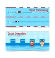 Sport Swimming Grand Openning Banners Set vector image vector image