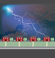 storm clouds over residential houses vector image vector image