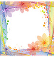 summer multicolored frame background vector image vector image