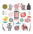 target icon arrow in aim of dartboard vector image vector image