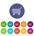 trolley icons set color vector image vector image