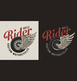 vintage colorful custom motorcycle badge vector image vector image