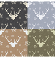 vintage pattern with deer vector image