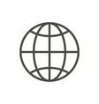 web icon line internet vector image vector image