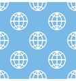 World seamless pattern vector image vector image