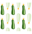 zucchini and courgette pattern marrow vegetable vector image