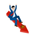 the man falling down chart is confused vector image