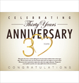 30 years anniversary background vector image vector image