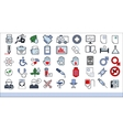 45 medical icons vector image vector image