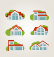 5houses vector image vector image