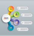 abstract 3d infographic template with a five vector image vector image