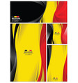 abstract belgium flag background vector image