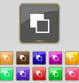 Active color toolbar icon sign Set with eleven vector image vector image