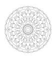 Adult coloring book page circular pattern mandala