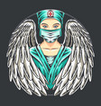 angel nurses wearing masks artwork vector image