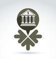 banking symbol revenue sources concept Speech vector image