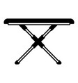 black sections silhouette of ironing board vector image