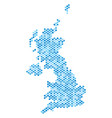 blue dotted united kingdom map vector image vector image