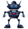 blue robot cartoon isolated on white background vector image vector image