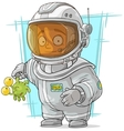 Cartoon astronaut in space suit vector image vector image