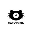 cat vision one eye logo icon vector image