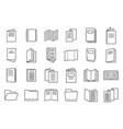 catalogue icons set outline style vector image vector image