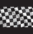 checkered flag pattern background vector image vector image
