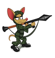 Chihuahua with the rocket launcher vector image vector image