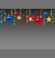 christmas decoration transparent composition vector image vector image