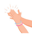 clapping white hands composition vector image vector image