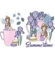 clip arts summertime color vector image vector image