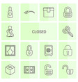 closed icons vector image vector image