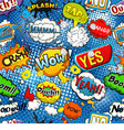 comic speech bubbles seamless pattern vector image vector image